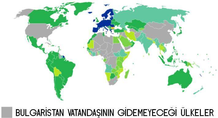 Bulgaristan vatandaşı hangi ülkelere vizesiz gidebilir?